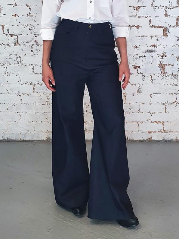JMVB High Waisted Wide Leg Jeans Crop