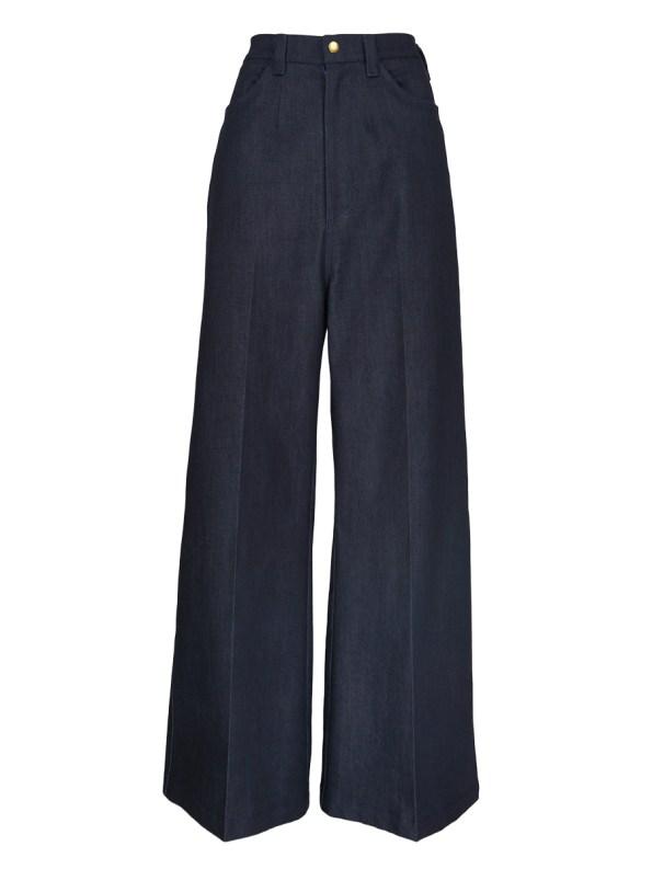 JMVB High Waisted Wide Leg Jeans Indigo