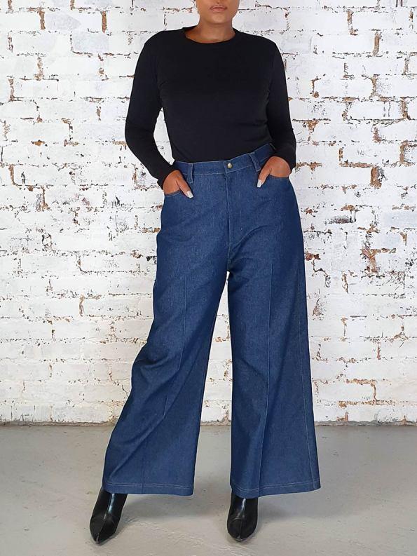 JMVB High Waisted Wide Leg Jeans Original Front