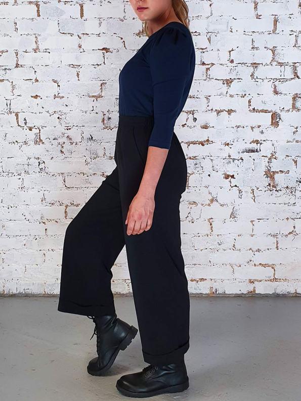 JMVB Straight Leg Cropped Pants Black Side