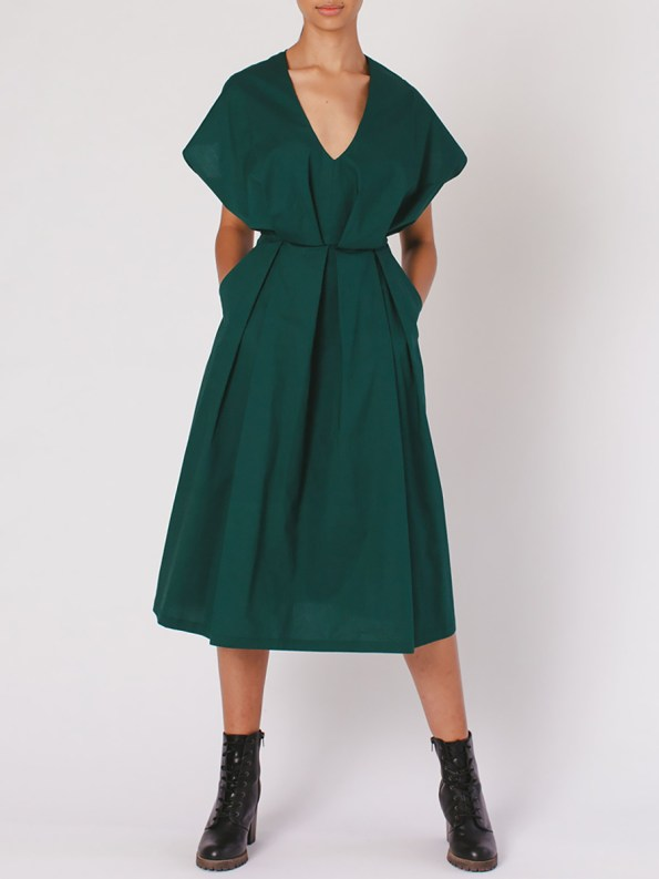 Mareth Colleen Hazel Dress Green Pockets
