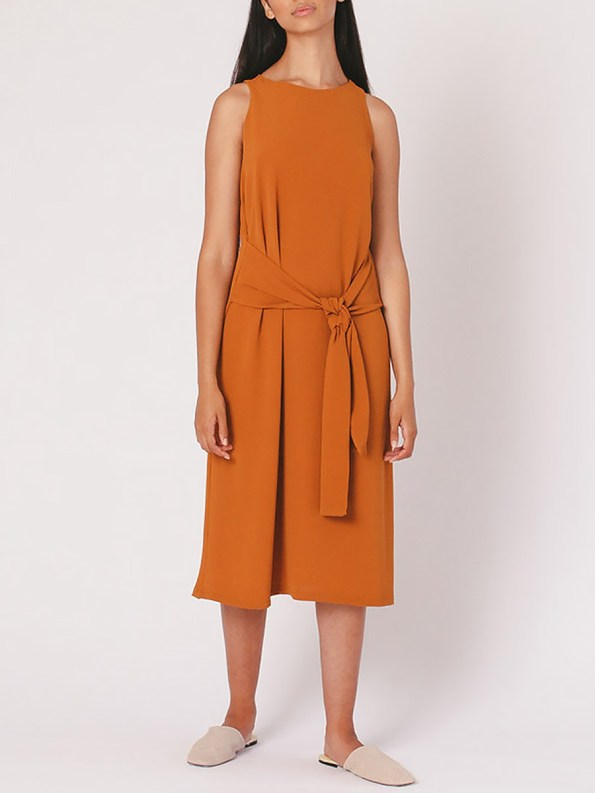 Mareth Colleen Mia Dress Clay Front 2
