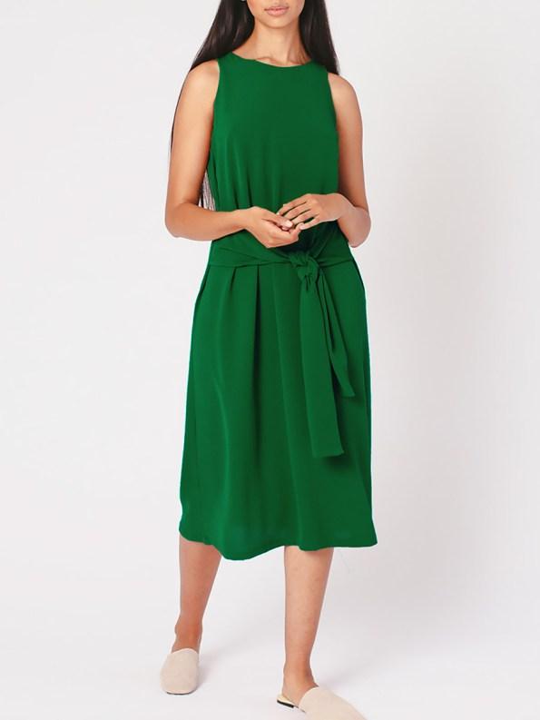 Mareth Colleen Mia Dress Green Front 2