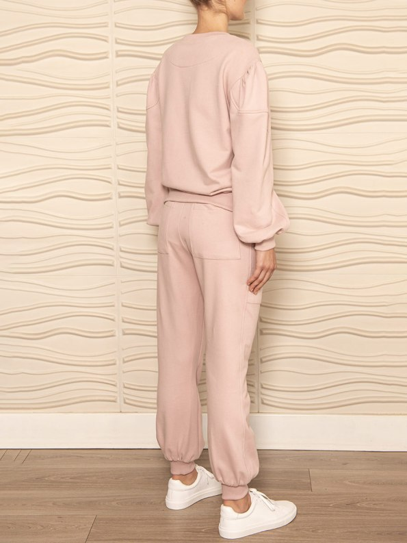 Smudj Alvie Top and Cora Pants Pink Back