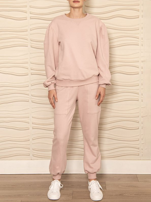 Smudj Alvie Top and Cora Pants Pink Front