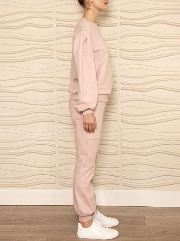 Smudj Alvie Top and Cora Pants Pink Side