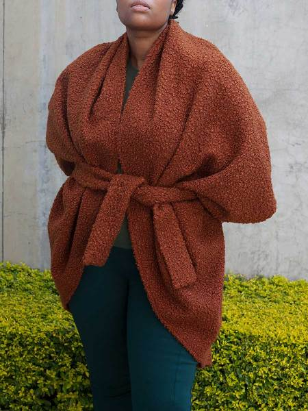 brown teddy shrug coat for women South Africa
