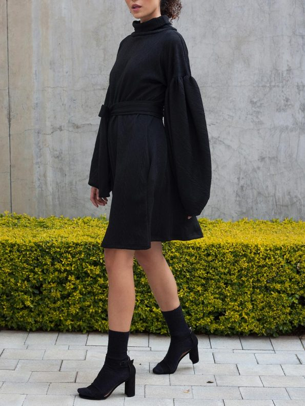 Erre Doyenne Dress Black 6