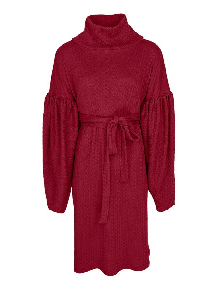 red knit dress long sleeves South Africa