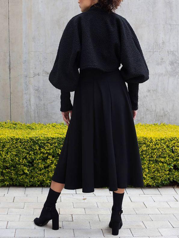 Erre Kingpin Cropped Jacket Black with Commander Dress 3