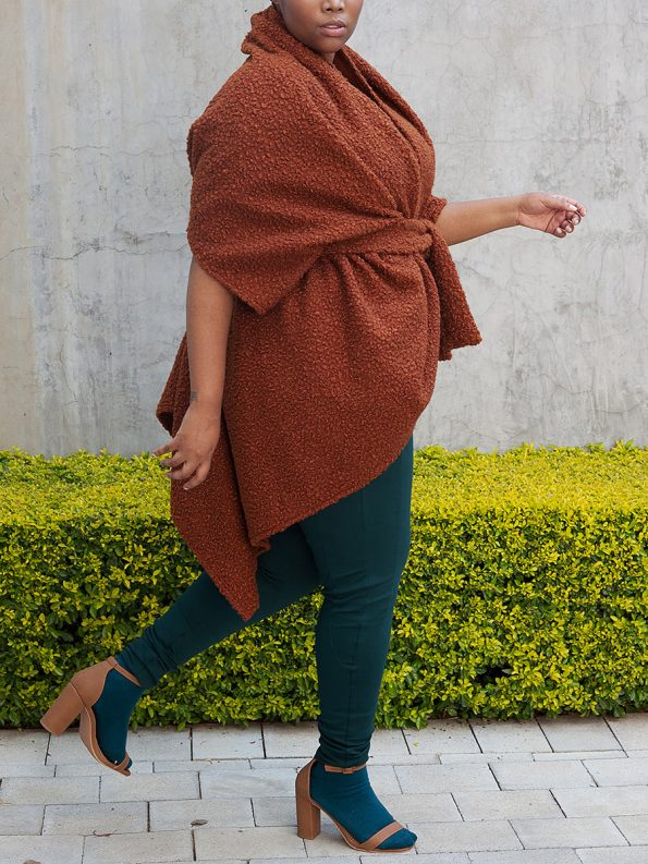 Erre Officer Leggings Green with Boss Cocoon Cardigan