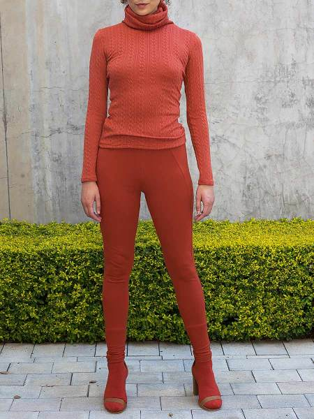 Orange polo neck and leggings womens South Africa