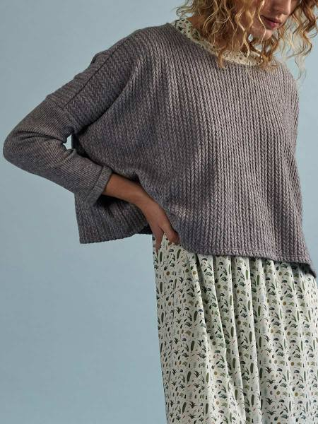 Ladies cropped grey sweater top South Africa