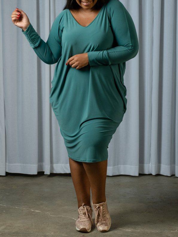 IDV Cocoon Dress Seafoam