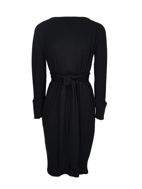 IDV Cocoon Knit Dress Black