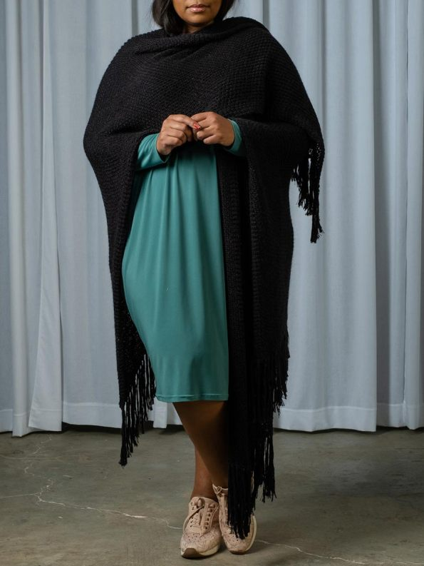 IDV Mohair Wrap Black 1