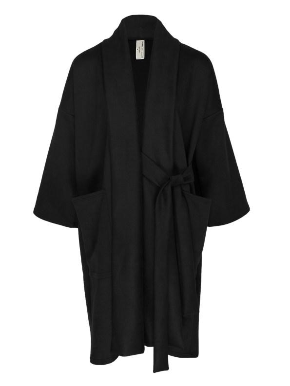 IDV Suede Bow Coat Black _SHPEN MORE