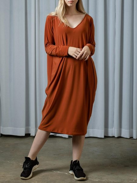 Rust Brown midi dress South Africa