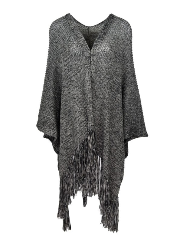 IdV Raw Collection Mohair Shawl Charcoal