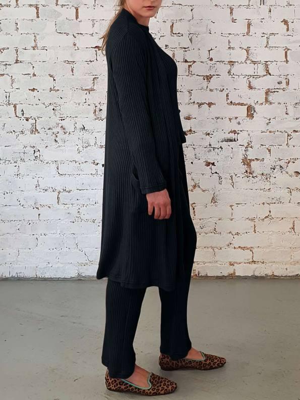 JMVB Loungewear Long Cardigan Black 1