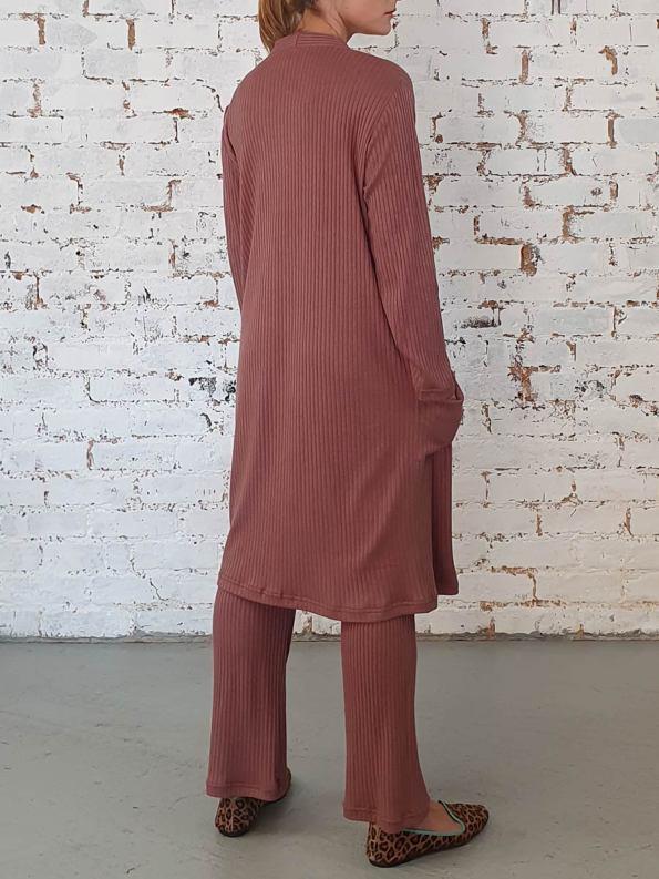 JMVB Loungewear Straight Cardigan Cognac 3
