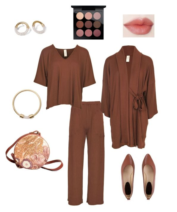 how to style brown loungewear