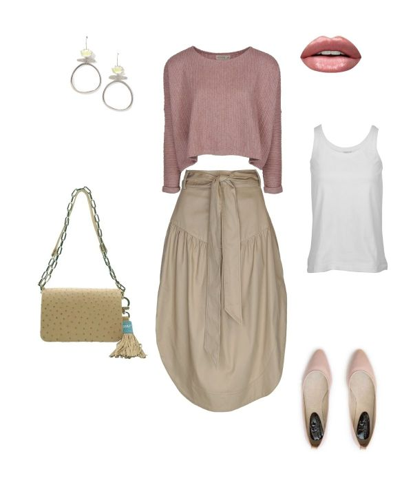 Short jersey with skirt outfit