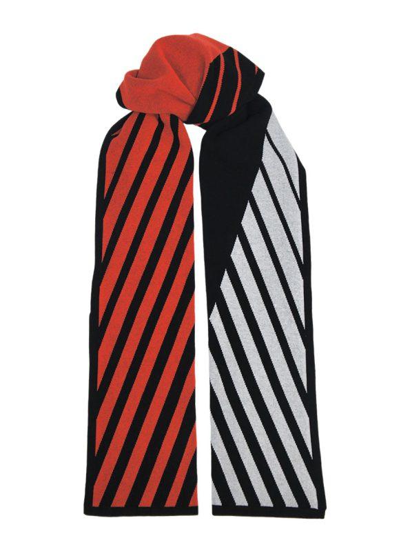 Romaria Striped Scarf Orange and Black