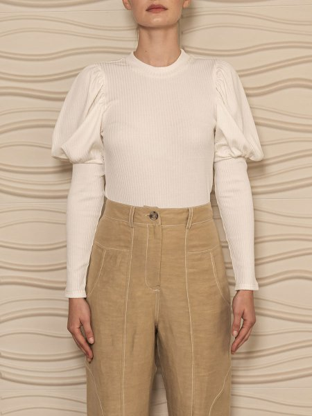 White puff sleeve long sleeve top for women South Africa
