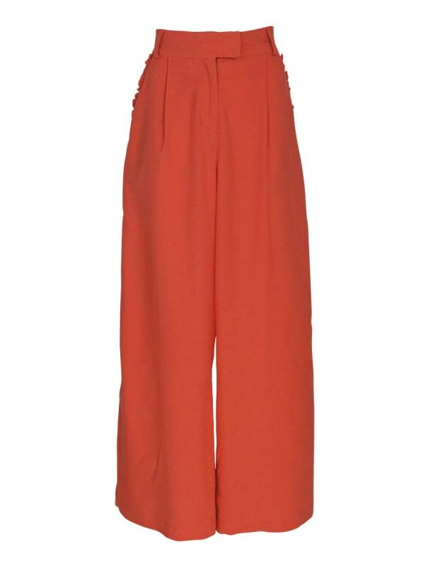 Asha Eleven High & Wide Pants Coral