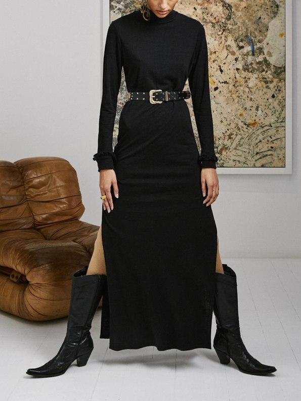 Asha Eleven Marefu Dress Black 3