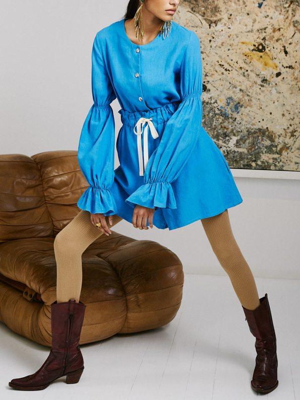 Asha Eleven Outlander Blouse Salama Shorts Cornflower Blue 4