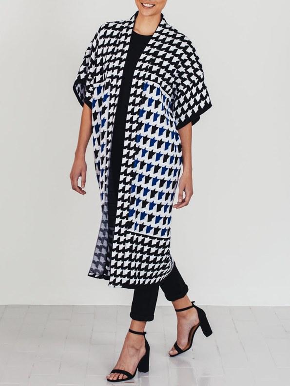 Romaria Knitted Kimono Cobalt Blue 2