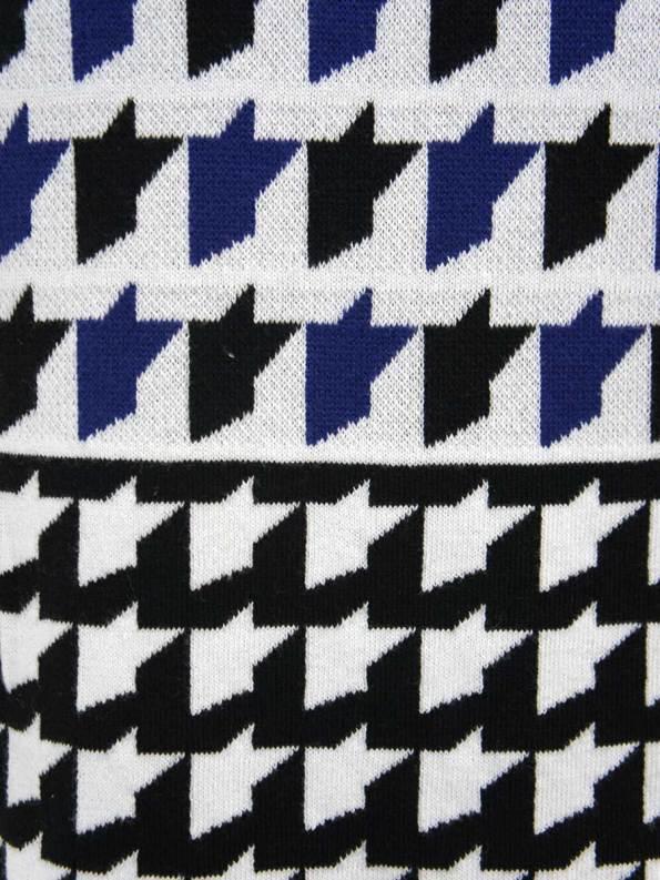 Romaria Knitted Kimono Cobalt Blue Detail