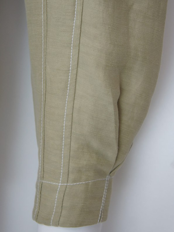 Smudj Arco Pants Sand Cuff Detail