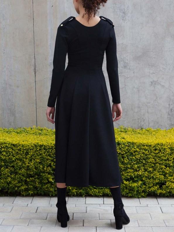 Erre Commander Dress Black 6