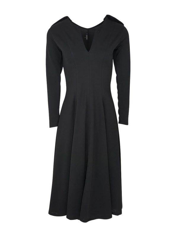Erre Commander Dress Black