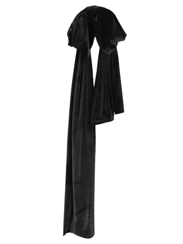 Erre Velvet Bow Black Full Length