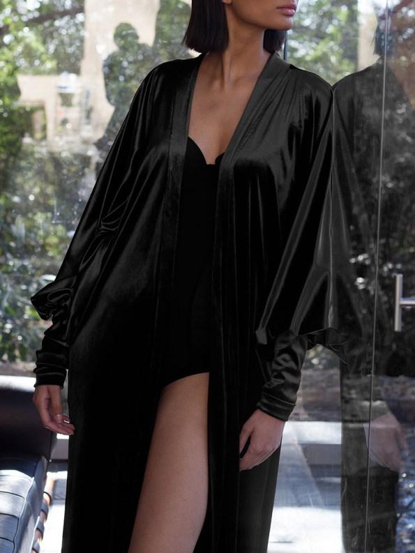 Erre Velvet Robe Black 3