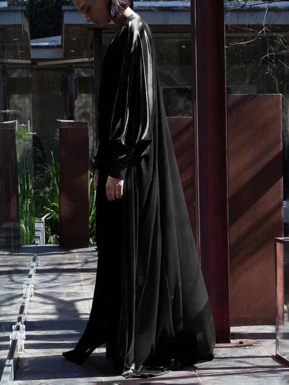 Erre Velvet Robe Black 6