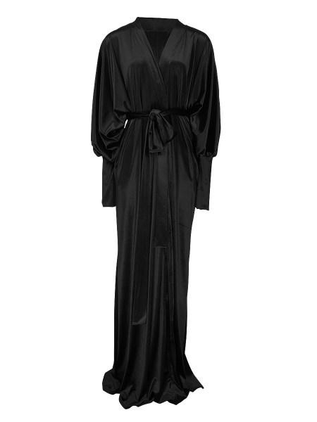 black velvet robe coat