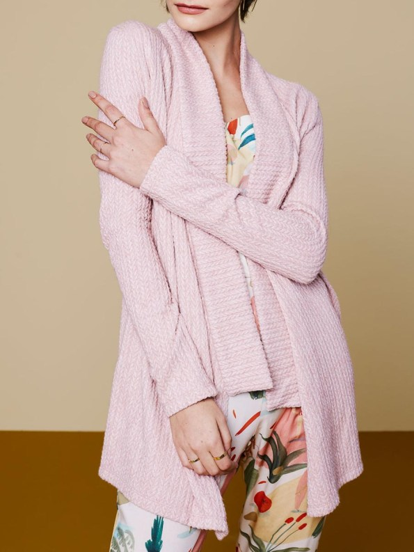 Good Cardigan Pink Cable 2