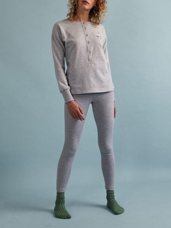 Good Leggings Grey Rib 2