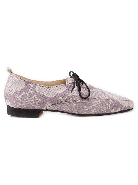 light grey and cream brogues for women
