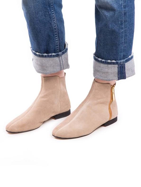 HoC Suna Boots Suede Stone Model
