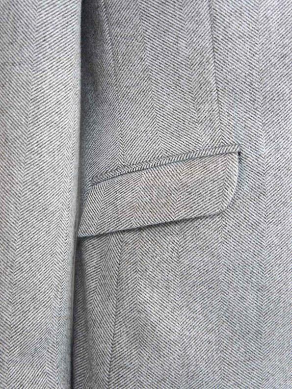 House of Cinnamon Blazer Grey Herringbone Pocket