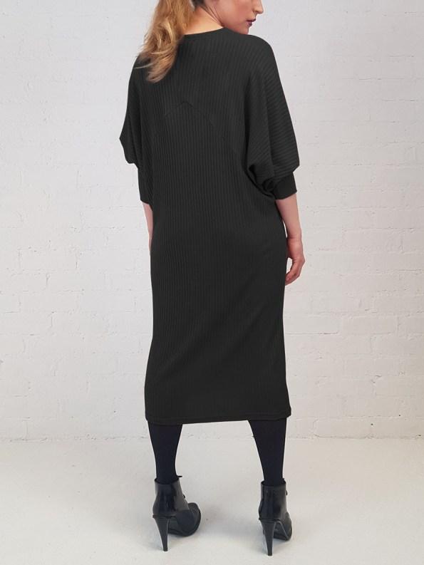 JMVB Knit Sweater Dress Black Back