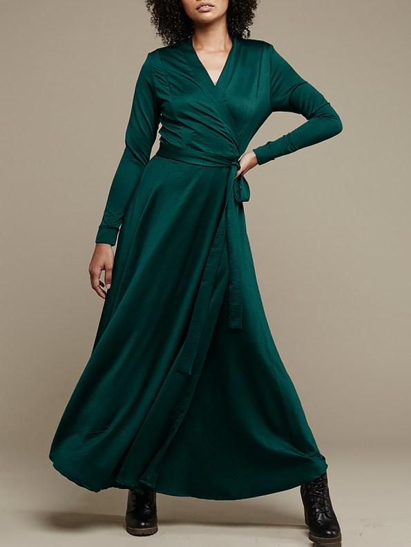 Mareth Colleen Jo Wrap Dress Green 2