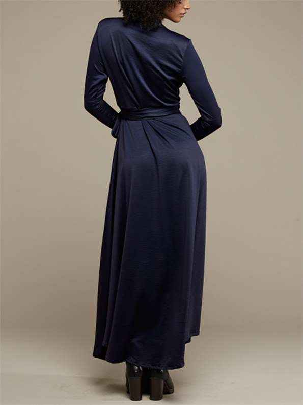 Mareth Colleen Jo Wrap Dress Navy 3