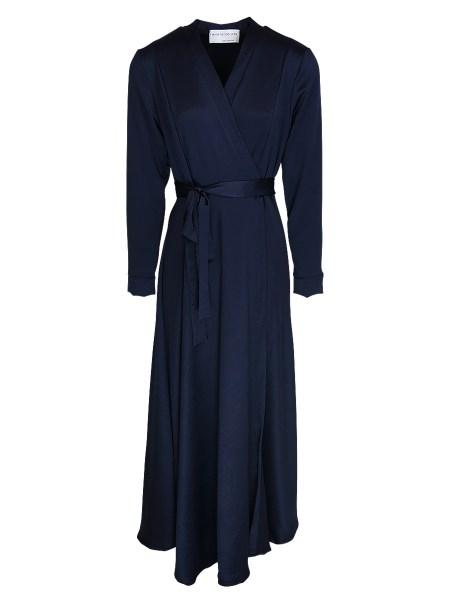 navy maxi wrap dress South Africa